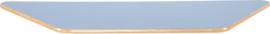 Trapezium Flexi tafelblad 150,5x80x80cm blauw los