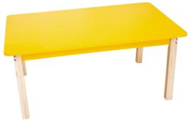 Rechthoekig kleurrijk tafelblad geel