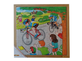 Puzzel wielrennen