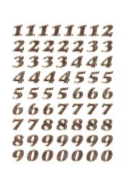 Etiket Herma 4193 8mm getallen 0-9 goudfolie 64stuks