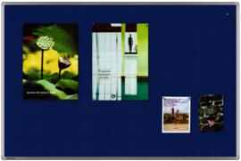Textielbord universal blauw 100 x 150 cm