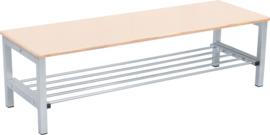 Flexi garderobe bank 4, hoog 35 cm - esdoorn