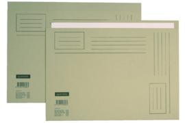 50x Vouwmap Quantore A4 ongelijke zijde 230gr grijs