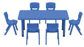 Dumi rechthoekige tafel - blauw