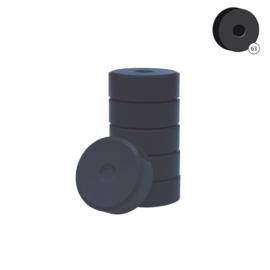Colorall verfblokken Ø 5,5 cm 6 dlg -  Zwart