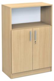 Expo medium boekenkast met open vak  - esdoorn