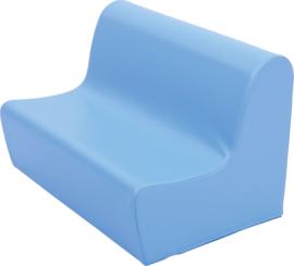 Lage zitbank 65cm zithoogte 20cm - Lichtblauw