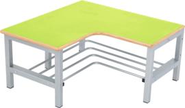 Flexi garderobe hoekbank 4, zithoogte 26 cm., groen