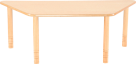 Trapezium Flexi tafel 150,5x80x80cm beuken in hoogte verstelbaar