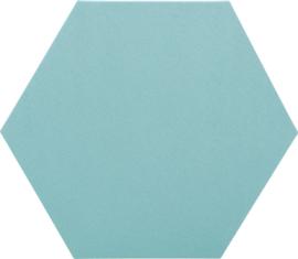 Geluiddempende zeshoek PLUS, turquoise