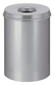 Papierbak met vlamdover Vepabins 30 liter grijs