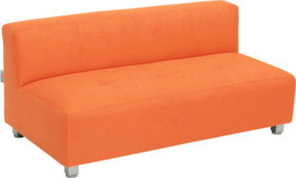 Flexi brede bank, zithoogte 25 cm, oranje