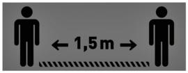 Vloersticker OPUS 2 40x15cm lichtgrijs/zwart