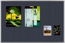 Textielbord universal grijs 100 x 150 cm