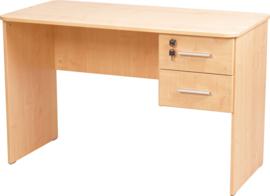 Vigo-bureau met afgeronde randen, met 2 laden beuken