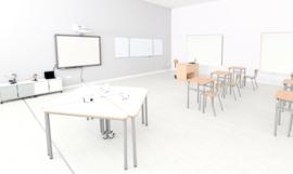 Verplaatsbare Milan-tafel, driehoekig, maat 4 - HPL WIT