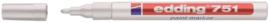 Viltstift edding 751 lakmarker rond wit 1-2mm