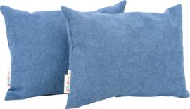 Rechthoekige kussens, blauw, 2 stuks