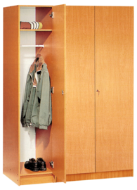 Expo garderobe kast - beuken