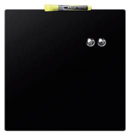 Whiteboard Rexel 36x36cm zwart magnetisch