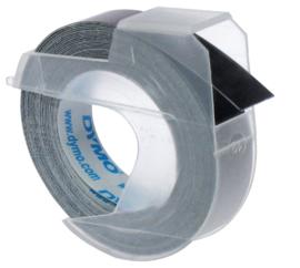 10 stuks Labeltape Dymo rol 9mmx3M glossy vinyl prof zwart