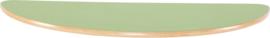 Halfrond Flexi tafelblad 120x60cm groen los
