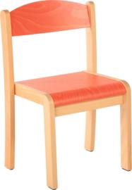 Maxime stoel ,  oranje maat 1-4