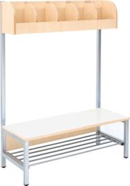 Flexi garderobe 5, zithoogte 35 cm - wit
