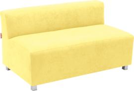 Flexi brede bank, zithoogte 35 cm, geel