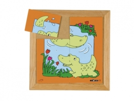 Puzzel krokodil moeder/kind 6 dlg.