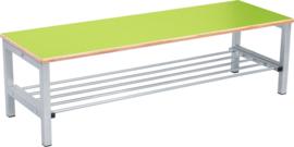 Flexi garderobe bank 4, hoog 35 cm - groen
