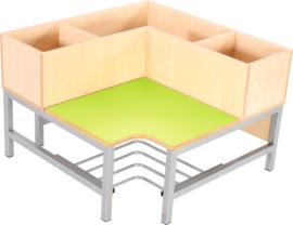 Flexi garderobe hoekbank 3, zithoogte 35 cm, groen