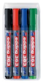 Viltstift edding 363 whiteboard beitel ass 1-5mm etui à 4st
