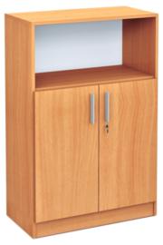 Expo medium boekenkast met open vak - beuken