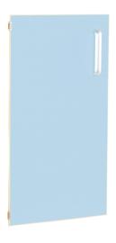 Deur voor smalle kast Flexi en kast M met scheidingswand links - licht blauw