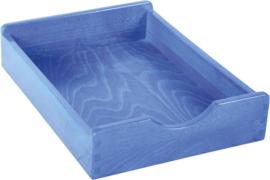 Houten lade - blauw