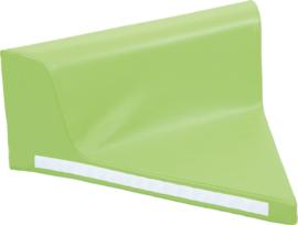 Driehoekig zitje met rugleuning - groen