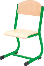 NIC stoel  - groen-beuken, maat 2-6