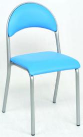 Jay stoel gestoffeerd - blauw