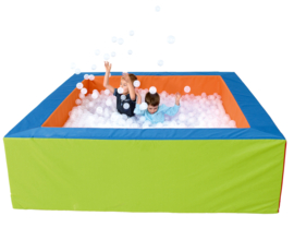 Ballenbad met achtergrondverlichting - veranderende kleuren