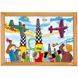 Puzzel power vliegtuigen