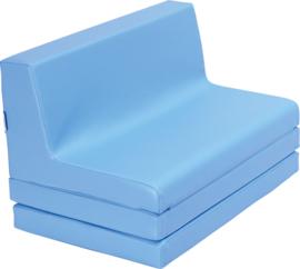 Vouwbare bank  afm. 48 x 80 x 49 cm - Blauw
