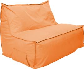 Poef bank, oranje