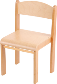 Stapelbare stoel Elise met viltdoppen,  maat 1-4