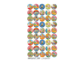 Stickers bezig met Bas - serie 80