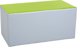 Wachtruimte zitje  40x40x80cm - Grijs/lime