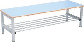 Flexi garderobe bank 4, hoog 26 cm - lichtblauw