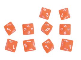 Dobbelstenen getallen 8 zijden