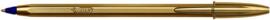 Balpen BIC Cristal Gold blauw 20st