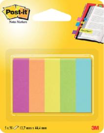 Indextabs 3M Post-it 670 Capetown 12.7x44.4mm papier 5 kleuren